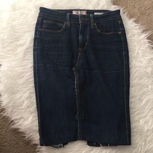 {Guess} Dark Wash Skinny Denim Pencil Skirt
